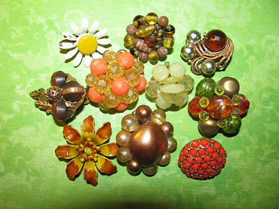 Vintage Mismatched Single Earring Lot for Parts Crafts Rhinestone Beaded