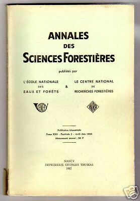 ANNALES DES SCIENCES FORESTIERES t XXII fasc 2 1965