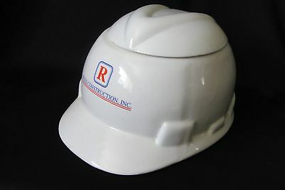 Reyes Construction Hard Hat Cookie Jar Industrial Advertising Promo Safety Cap