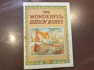 1925 Postum Cereal Wonderful Lunch Boxes Booklet Squirrel Shirley Kite