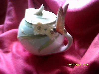 Franz Xp 1878 Signed Large Butterfly Teapot Unused Good Condition No Box