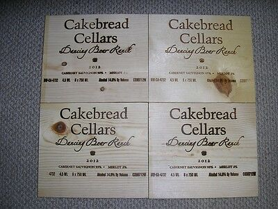 4 Napa Valley Wooden Wine Box Ends Cakebread Cellars
