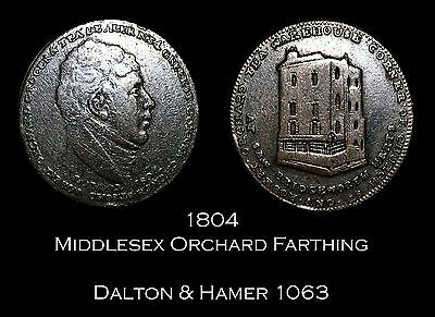 1804 Middlesex Orchard's Conder Farthing D&H 1063