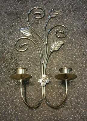 Vintage Home Interior Wall Candle Holder Gold