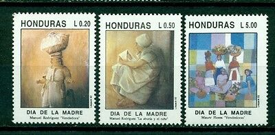 Honduras Scott #367-369 MNH Mother's Day Paintings Art CV$3+