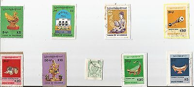 A  Fresh New Selection Of Kiloware Stamps From Burma Myanmar