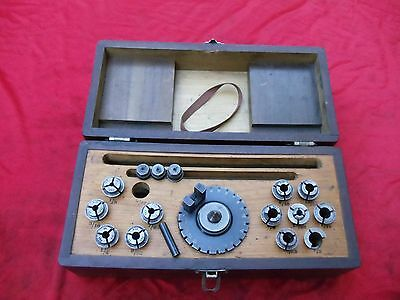 Browne & Sharpe 00 collets tool & cutter grinder indexing dividing head