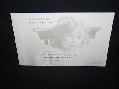 GB 2000 the life of the century prestige booklet. SG DX25.cat £31- (face £12.52)