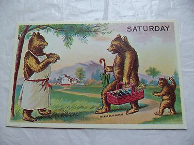 PC Replica of the Antique Original Friend Visiting Mother Bear Saturday,unposted
