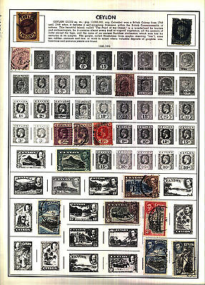 CENTRAL AFRICAN REPUBLIC CEYLON 1886-1965 Lot of 91 Stamps on Harris Album Pages