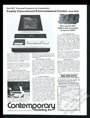1979 Commodore PET personal computer photo vintage print ad