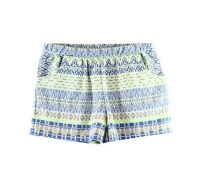 Ella Moss NEW Green Blue Tribal Girl's Size 12 Pull-On Knit Shorts $52 DEAL