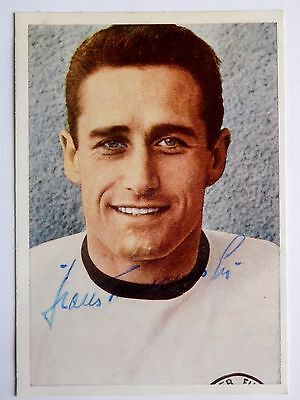 HANS TILKOWSKI signed autograph card Germany England World Cup Final 1966