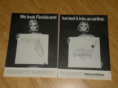 Vintage Magazine Ad - 1968 - National Airlines