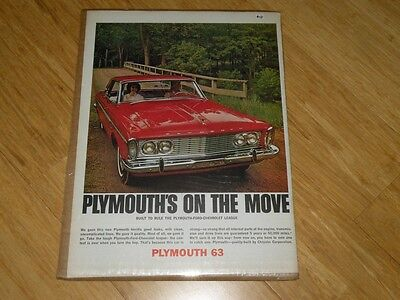 Vintage Magazine Ad - 1963 - Plymouth