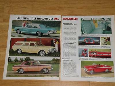 Vintage Magazine Ad - 1963 - Rambler (two pages)