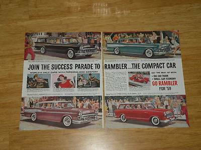 Vintage Magazine Ad - 1959 - Rambler - (two-pages)