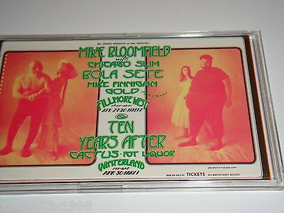 TEN YEARS AFTER Mike Bloomfield 1971 VINTAGE CONCERT TICKET Bill Graham FILLMORE