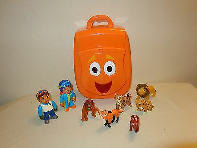Go Diego TALKING RESCUE PACK Plastic backpack w/ Animals & Figures lot