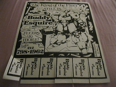Rare Flyer Black And White Robot Ad By Flyer King Buddy Esq For His Artwork 198?