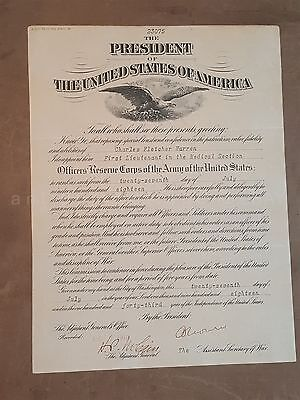 1918 antique WWI ARMY RESERVE DISCHARGE