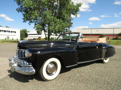 1947 Lincoln Continental  1947 Black Convertible Power Windows Power Top V12 3 Speed Collector Car