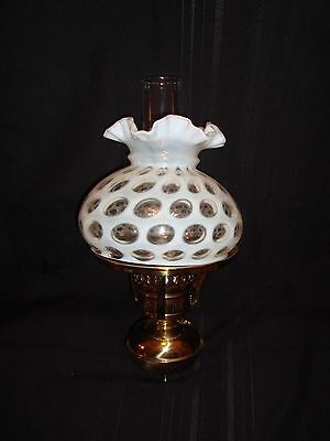 Rare Mint Vintage 10 inch Fenton French Opalescent Coin Dot Electric Wall Lamp