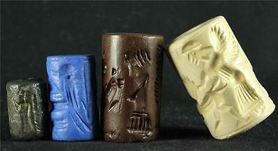 ANCIENT CYLINDER SEAL SET #13 Sumerian, Assyrian, Babylonian ancient replicas