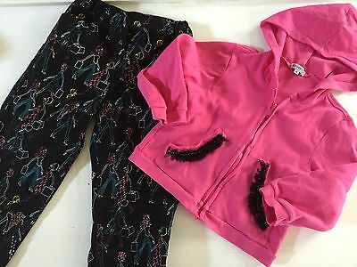 BOUTIQUE Haven Girl  6  Zippered Hoodie & Embellished Capri Pants Outfit 2pc lot