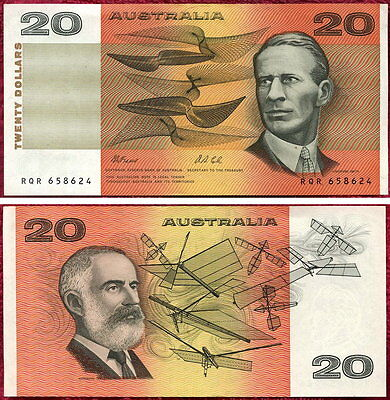 1991 Fraser and Cole 20 Dollar paper Banknote AU