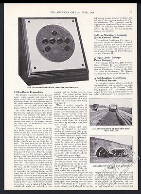 1929 Gamewell Peerless fire alarm transmitter photo vintage trade print article