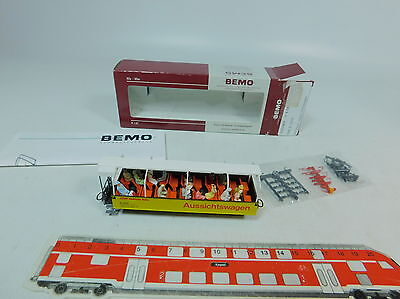 AU710-0,5# Bemo H0m/DC 3280 119 Observation car/Vagun panoramic Rhb 2099 NIP