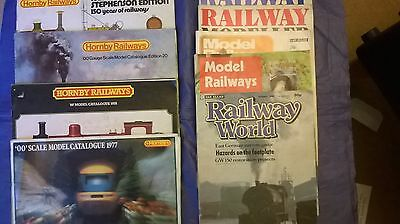 Collection of 4 Hornby Catalogues and 5 Model Railway Magazines