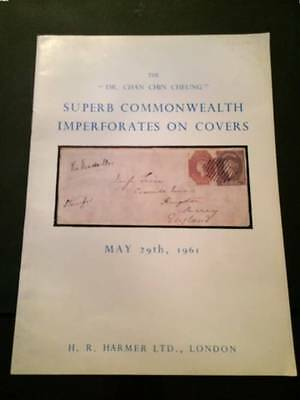 H.R. HARMER 1961 Dr Chan Chin Cheung superb Commonwealth imperfs