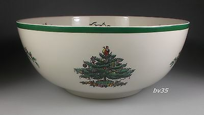 """SPODE CHRISTMAS TREE LARGE ROUND SALAD SERVING BOWL 9 3/4"""" - made in England"""