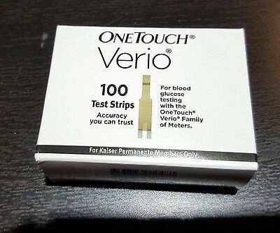 NEW 100 Verio test strips   exp. 3/18 FRESH MINT!
