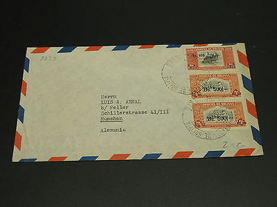 Bolivia 1940s? Airmail cover to Germany *9223