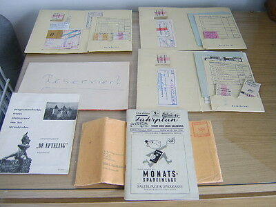 Timetable and Tickets Covering The Salzburg (Austria) Area Dating from 1965 etc