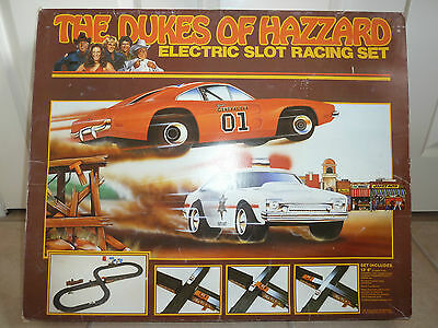 Vintage Dukes Of Hazzard Electric Slot Car Racing Set Boxed By Ideal Toys 1981
