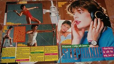 Stephanie Swedish Clippings 80,s Estefania De Monaco