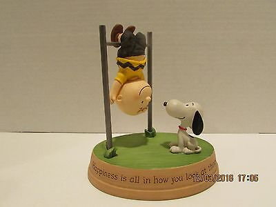 """2013 Hallmark Peanuts Charlie Brown And Snoopy """"happiness Is All . Figurine..new"""