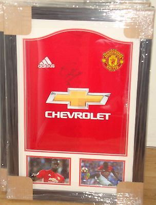 Framed Eric Bailly Hand Signed Manchester United Home Shirt
