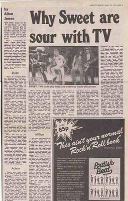 THE SWEET : Newspaper INTERVIEW ARTICLE -1975-