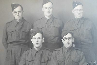 Group of Unknown Servicemen - Military Postcard