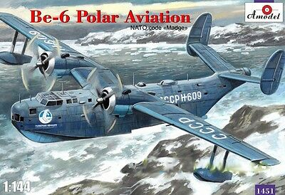 "AMODEL 1451 Beriev Be-6 Polar Aviation NATO Code ""Madge"" in 1:144"