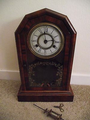 Vintage Jerome And Co American Striking Mantle Clock For Repair
