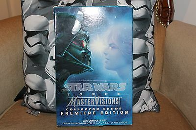 Topps Star Wars Mastervision Premiere Edition 36 art cards complete set