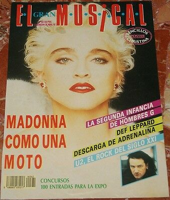Madonna El Gran Musical Magazine Cover+Clippings