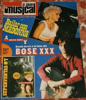 Madonna El Gran Musical Magazine Cover+Clippings 1987