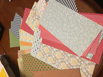 Stampin' Up! Retired Designer Series Papers Stack C 47 Pieces  6 x 12 Variety